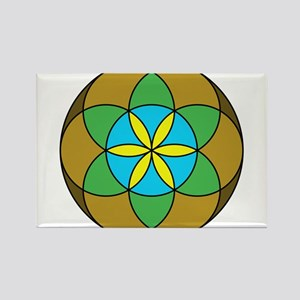 Seed of Life Earth3 Rectangle Magnet