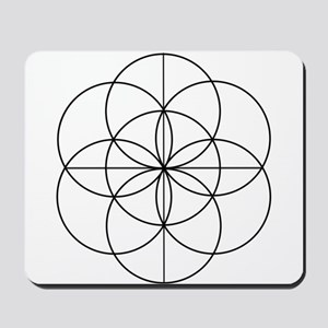 Seed of Life 2 Lines Mousepad