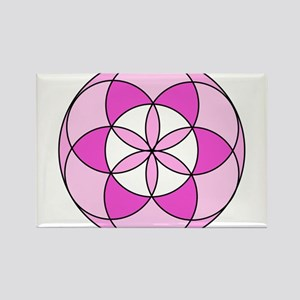 Seed of Life Pink1 Rectangle Magnet