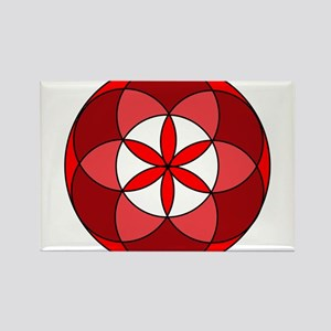 Seed of Life Red3 Rectangle Magnet