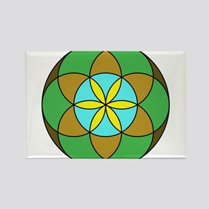 Seed of Life Earth2 Rectangle Magnet