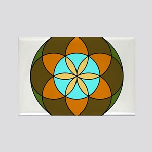 Seed of Life Earth Rectangle Magnet