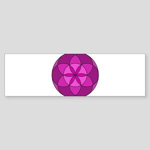 Seed of Life MultiViolet Sticker (Bumper)