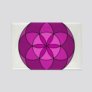 Seed of Life MultiViolet Rectangle Magnet