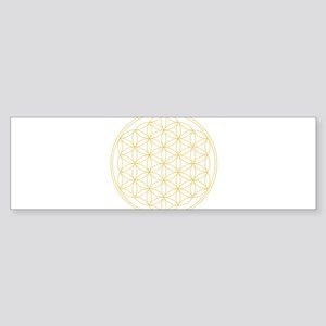 Flower of Life Gold Line Sticker (Bumper)