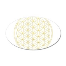 Flower of Life Gold Line Wall Sticker
