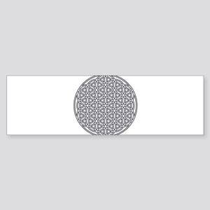 Flower of Life Single White Sticker (Bumper)
