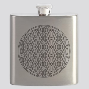 Flower of Life Single White Flask