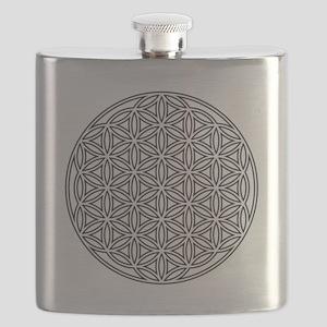 Flower of Life Single White Flask