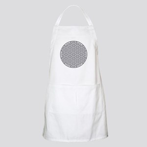 Flower of Life Single White Apron