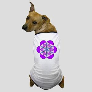 Flower of Life PurplePink Dog T-Shirt