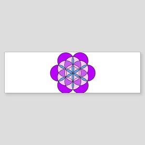 Flower of Life PurplePink Sticker (Bumper)