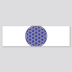 Flower of Life Single Blue Sticker (Bumper)