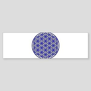 Flower of Life Single Blue Sticker (Bumper)