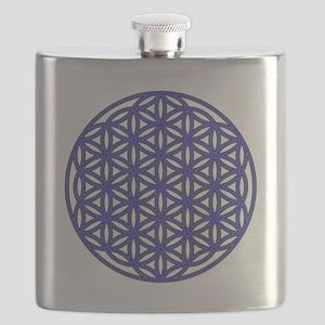 Flower of Life Single Blue Flask