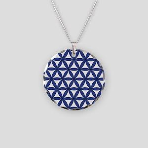 Blue Necklace Circle Charm