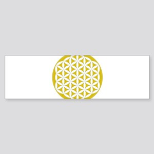 flower of life gold Sticker (Bumper)