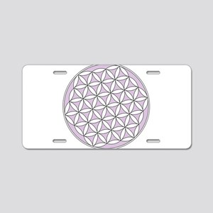 Flower of Life Lilac Aluminum License Plate