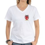 Manuell Women's V-Neck T-Shirt