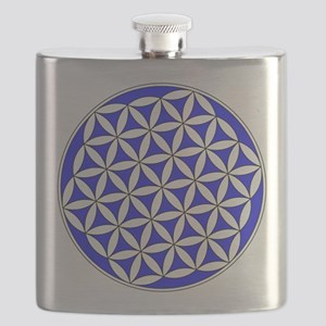 Flower of Life Blue Flask
