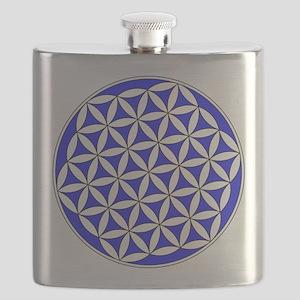Flower of Life Blue Flask