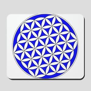 Flower of Life Blue Mousepad