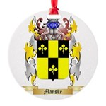 Manske Round Ornament