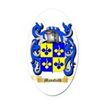 Mansfield Oval Car Magnet