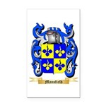 Mansfield Rectangle Car Magnet