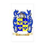 Mansfield Sticker (Rectangle 10 pk)