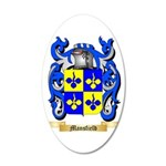 Mansfield 35x21 Oval Wall Decal