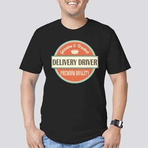 delivery driver vintag Men's Fitted T-Shirt (dark)
