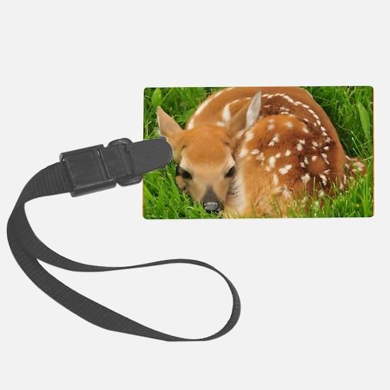 Resting Fawn Deer Luggage Tag