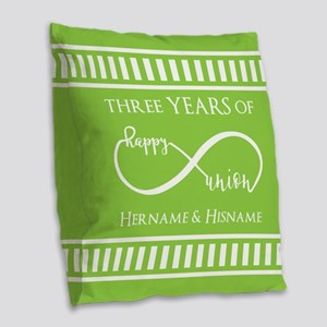 Personalized Anniversary Infin Burlap Throw Pillow