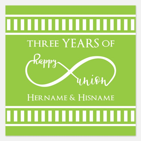 Personalized Anniversary In 5.25 x 5.25 Flat Cards