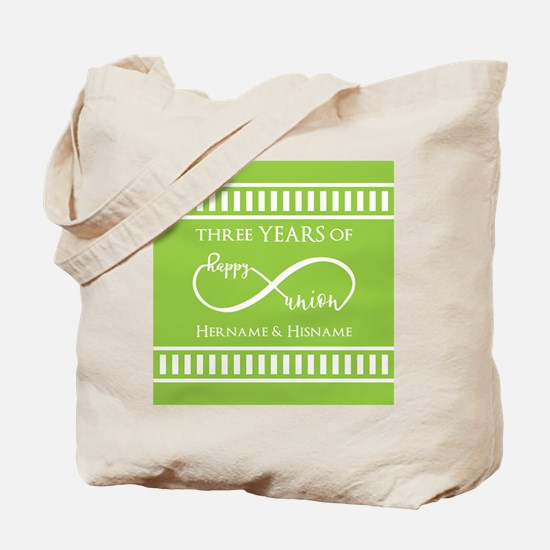 Personalized Anniversary Infinite Lime Tote Bag