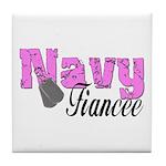 Navy Fiancee Tile Coaster