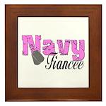 Navy Fiancee Framed Tile