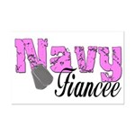 Navy Fiancee  Mini Poster Print