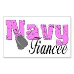 Navy Fiancee Rectangle Sticker