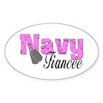 Navy Fiancee Oval Sticker