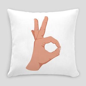 Okay Hand Sign Everyday Pillow