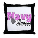 Navy Fiancee  Throw Pillow