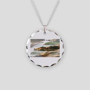 Acadia National Park Coastli Necklace Circle Charm