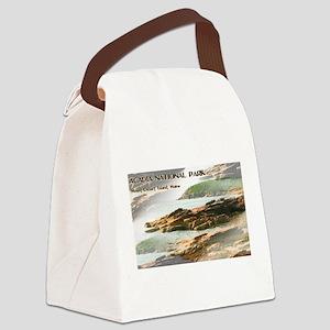 Acadia National Park Coastline Canvas Lunch Bag