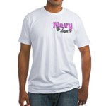 Navy Fiancee Fitted T-Shirt