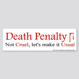 Pro-Death Penalty sticker