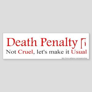 Pro-Death Penalty sticker
