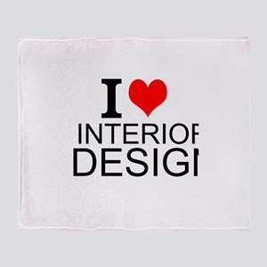I Love Interior Design Throw Blanket