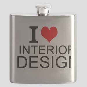 I Love Interior Design Flask